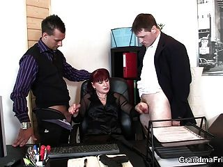 Business Mature Double Penetration