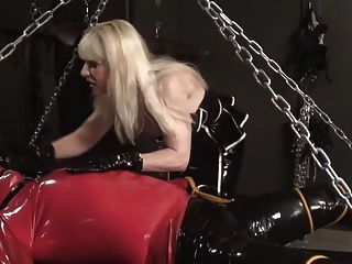 Rubber Latex Slave Made Wet By Madame C