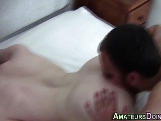 Ass Eating Amateur Cums