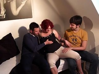 Redhead Gets Fuckt! By 3 Guys!