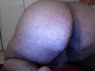 Fat Boy Cums On Plate Than Licks It Off