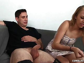 Huge Facial Cumshot For The Hot Blondie