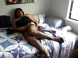 Caming In Nylons And Fucking My Ass