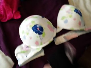 Blowing A Huge Load On 3 Nice Padded Push Up Bras