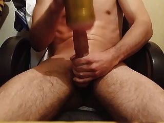 Fleshlight On My Nice Italian Cock ! Cum Load