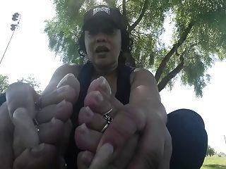 Steamy And Stinky Ebony Feet