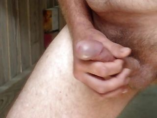 Jerking Off At Beach House With Cum