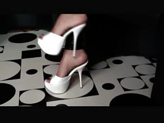 White High Heel Mules Teaser