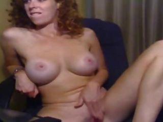 Busty Amateur Redhead Rubbing Pussy