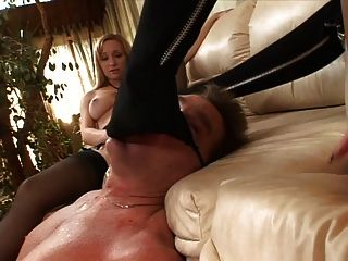 Hailey Young & Aiden Starr Footjob In Leath
