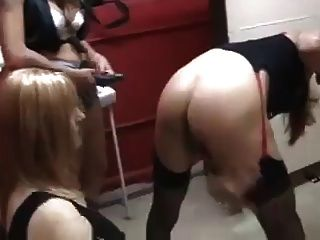 Cd Gets Fucked With 2 Strapons By 2 Beautiful Girls