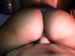 Fat Ass Latina Riding Big White Dick Pov. Hot!!