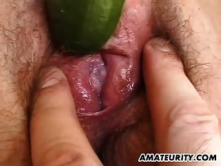 Amateur German Girlfriend Toys And Sucks With Cum In Mouth