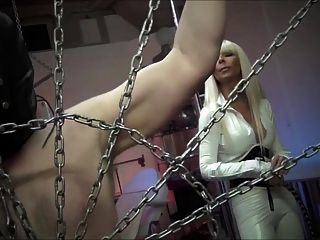 Blonde Mistress Cruel Whipping