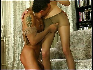 She Fucks Him In Sheer Pantyhose