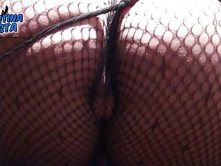 Amazing Fishnet Catsuit . Best Round Ass Ever