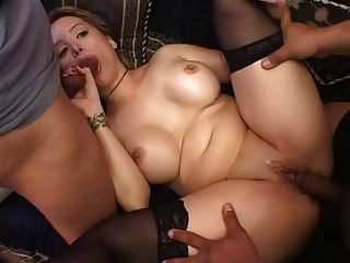 Girl With Black Stockings Threesome