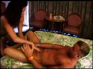 Sexy Prostitute  Giiving Handjob To Premature Ejaculator