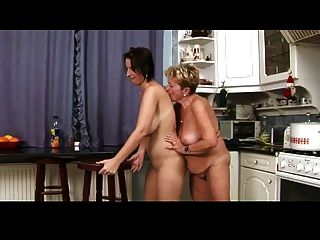 Old And Young Lesbians In Kitchen Bvr