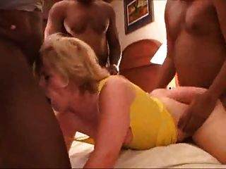 Bleached Blonde Gets Spitroasted, Facials From 3 Bbc