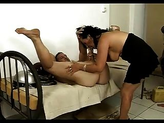 Horny Mature Licks Ass