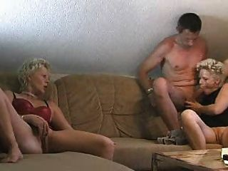 Attractive blonde picked up a guy and fucks