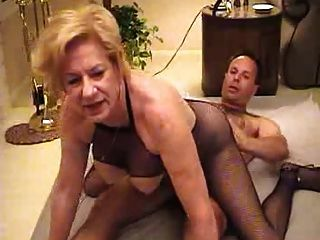 Mature woman seducing older man