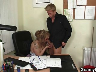 German mature boss fucks employes