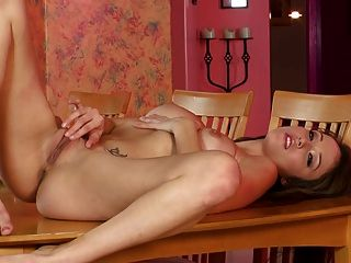 Girl squirts on pillow
