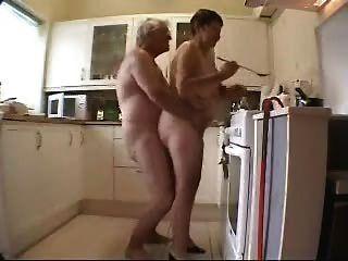 grandma and grandpa having fun